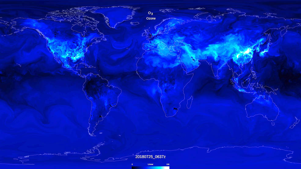 Visualization of global ozone