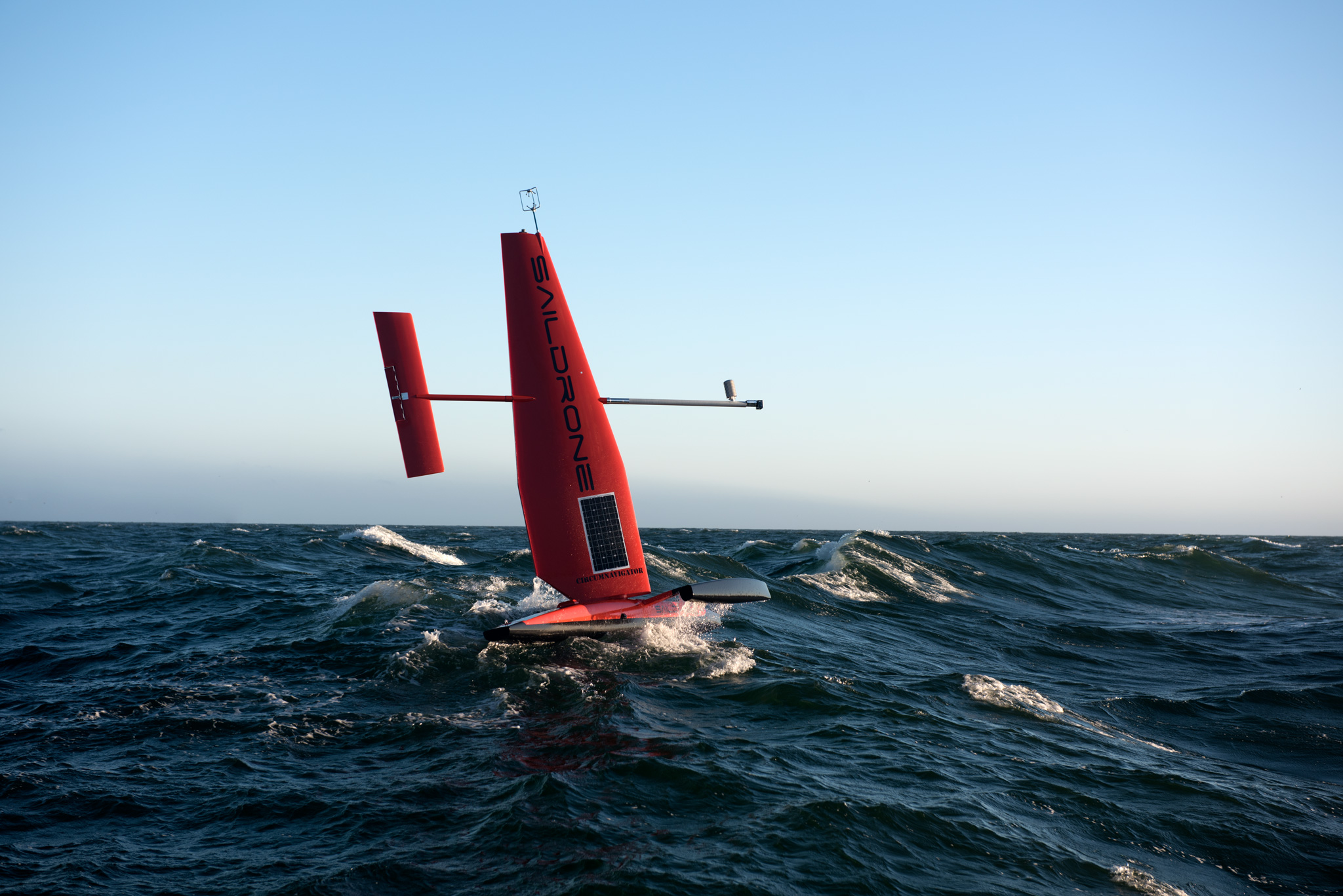 Photo of salidrone sailing on ocean